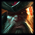 Gangplank using Athene's Unholy Grail