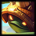 Defensive Ball Curl is used by Rammus