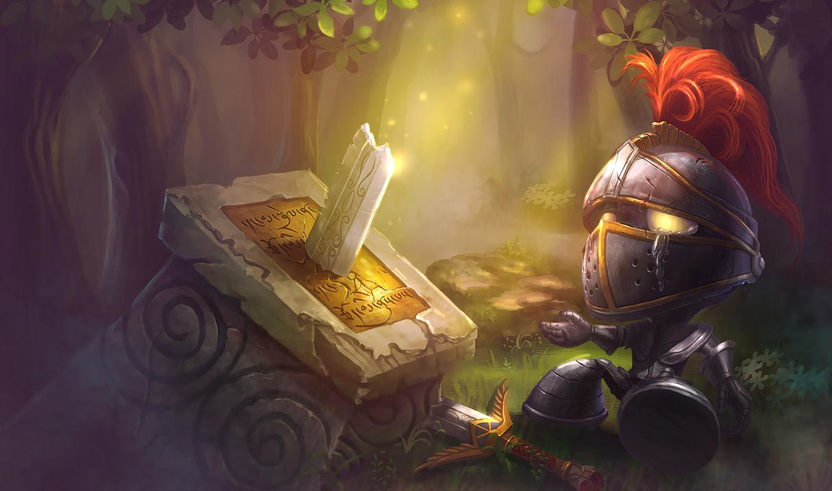 Little Knight Amumu Landscape Skin