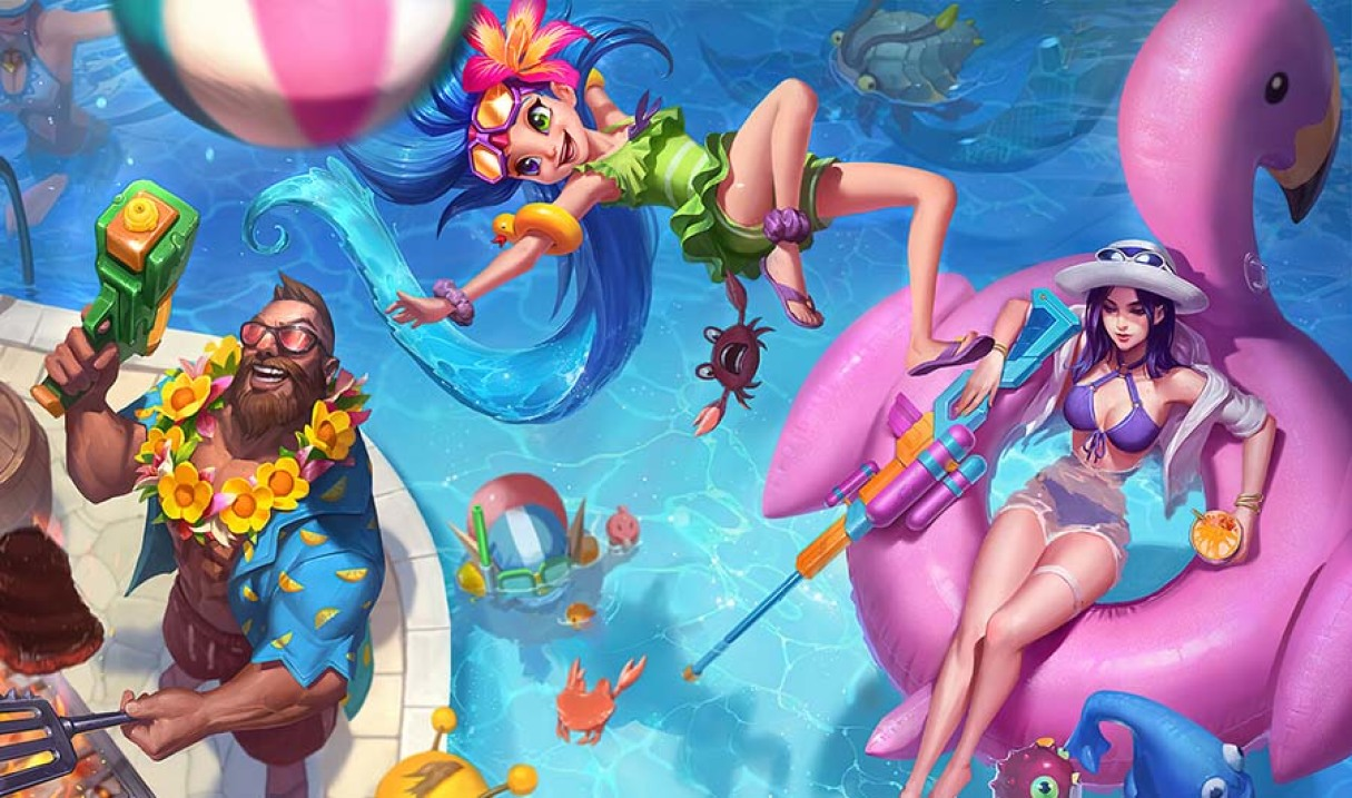 Pool Party Caitlyn Landscape Skin