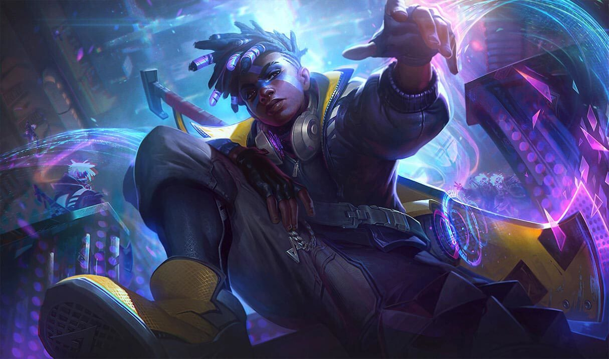 True Damage Ekko Landscape Skin