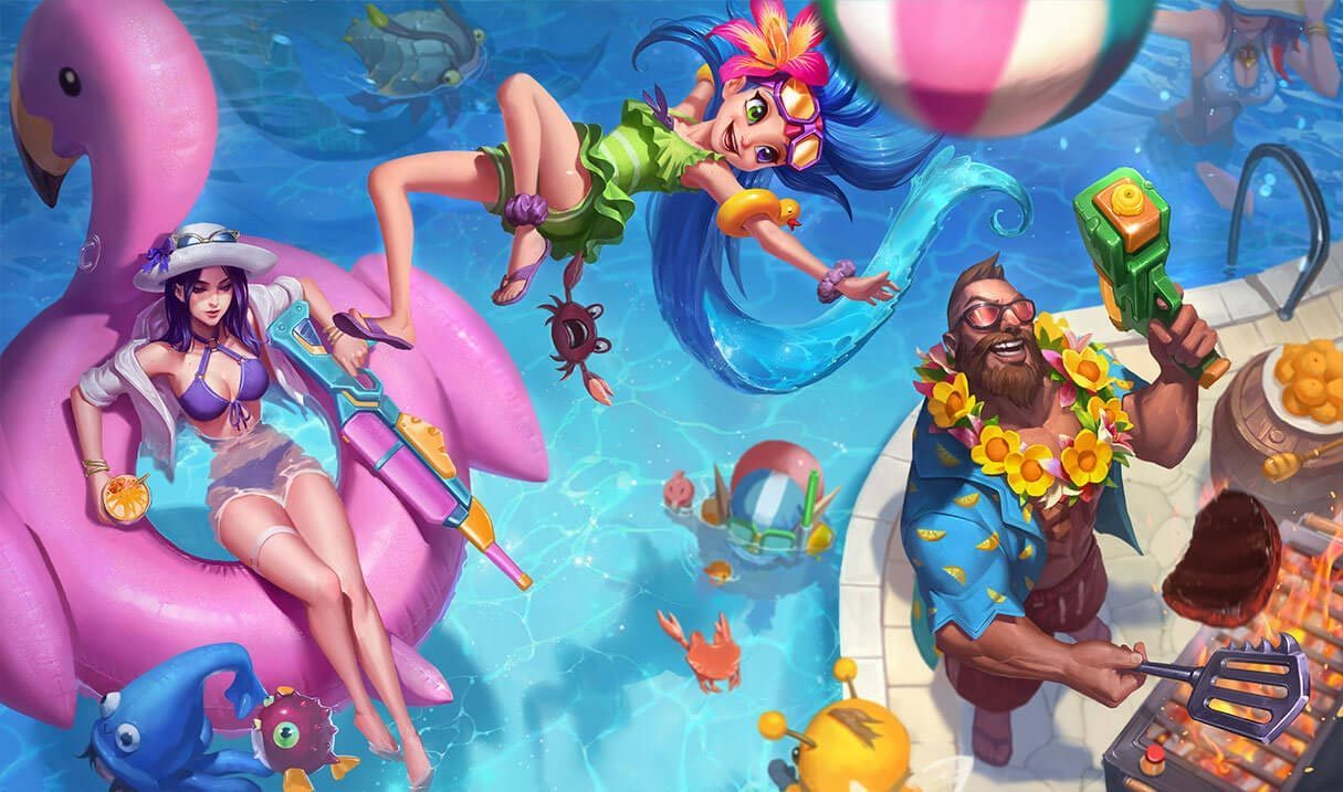 Pool Party Gangplank Landscape Skin