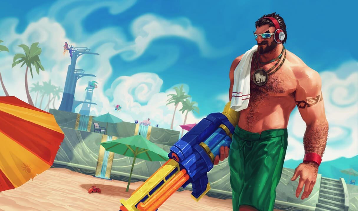 Pool Party Graves Landscape Skin