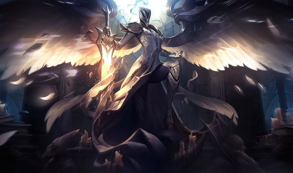 Silver Kayle League Of Legends Lol Champion Skin On Mobafire
