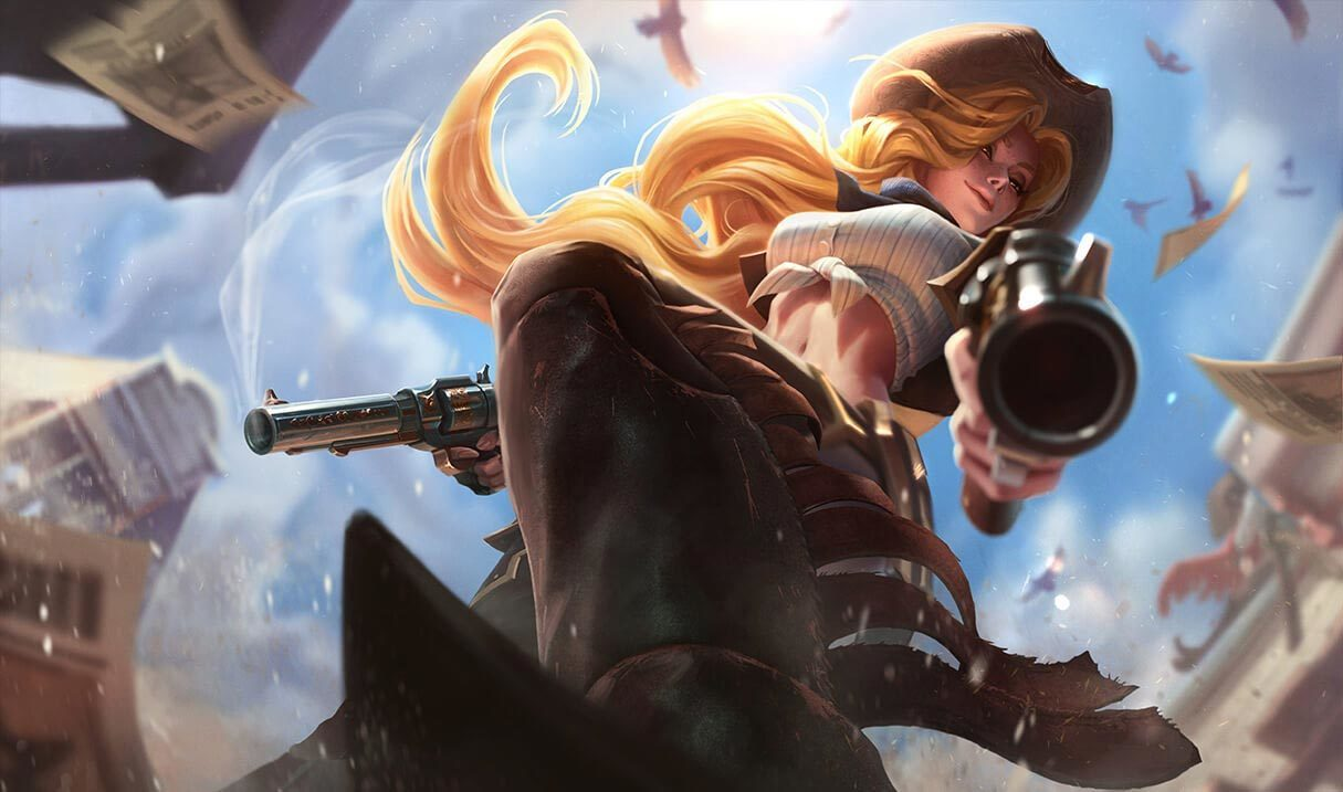 Cowgirl Miss Fortune Landscape Skin