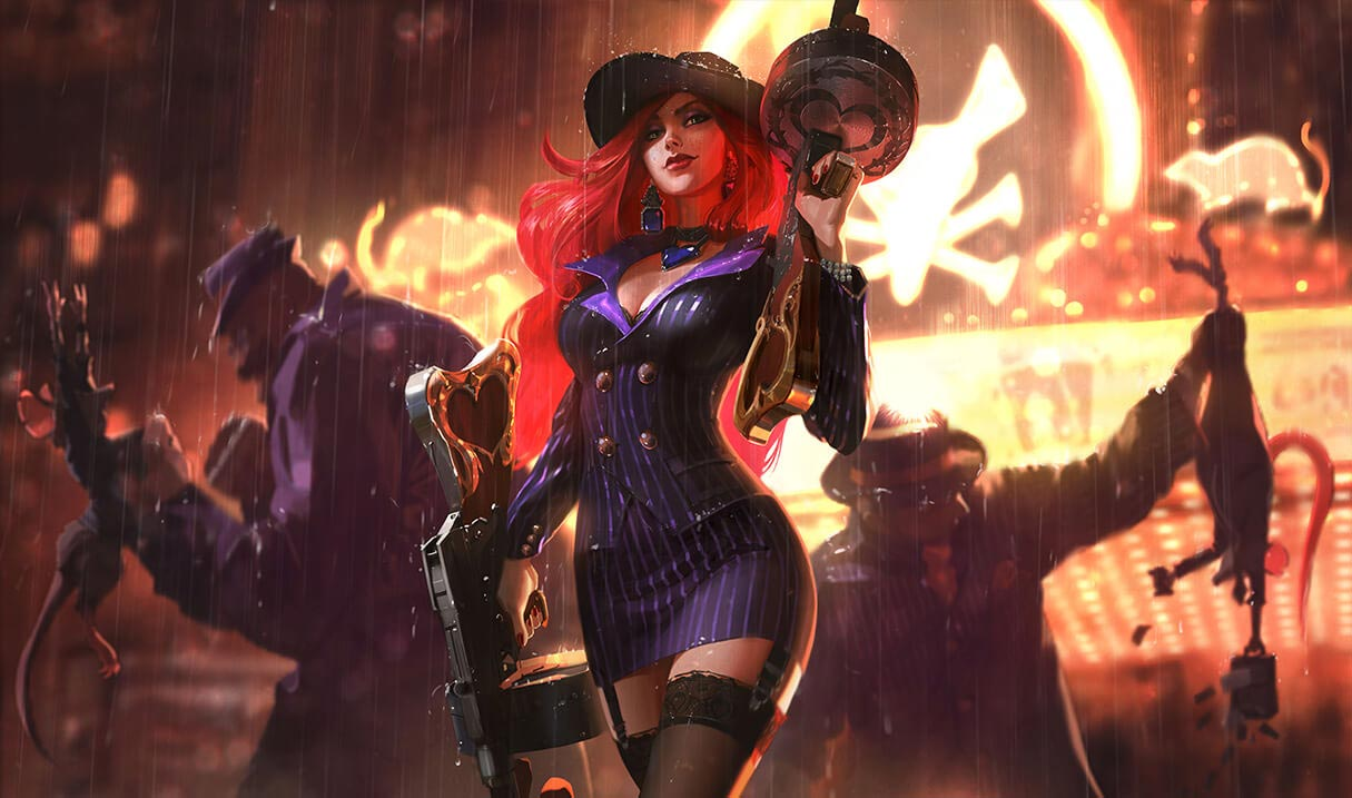 Crime City Miss Fortune Landscape Skin