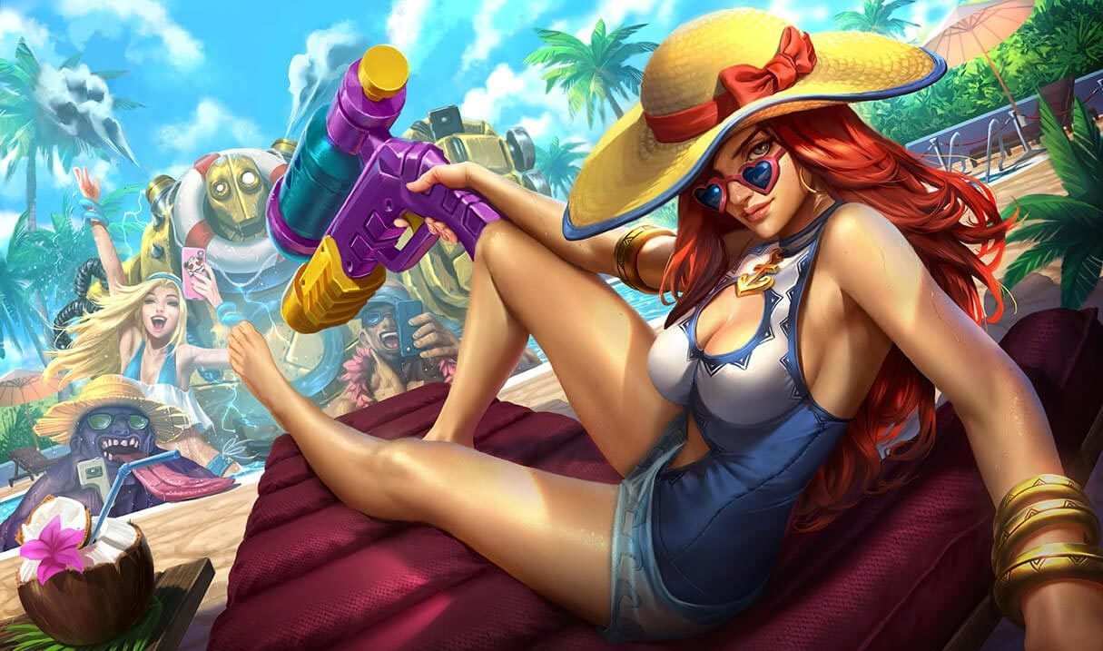 Pool Party Miss Fortune Landscape Skin