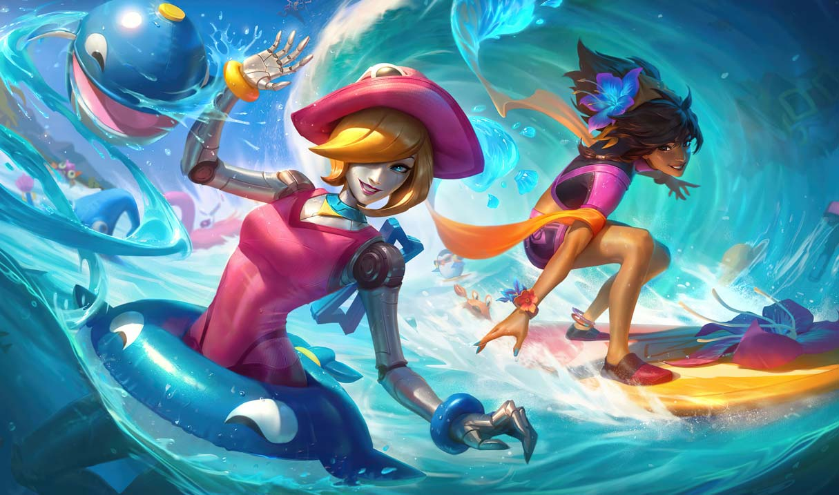 Pool Party Orianna Landscape Skin