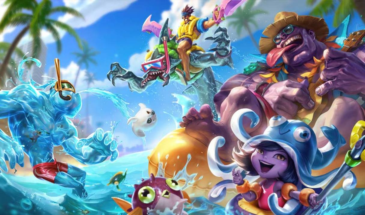 Pool Party Rek'Sai Landscape Skin