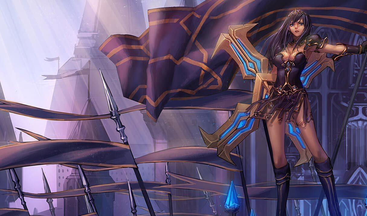 Warrior Princess Sivir Landscape Skin