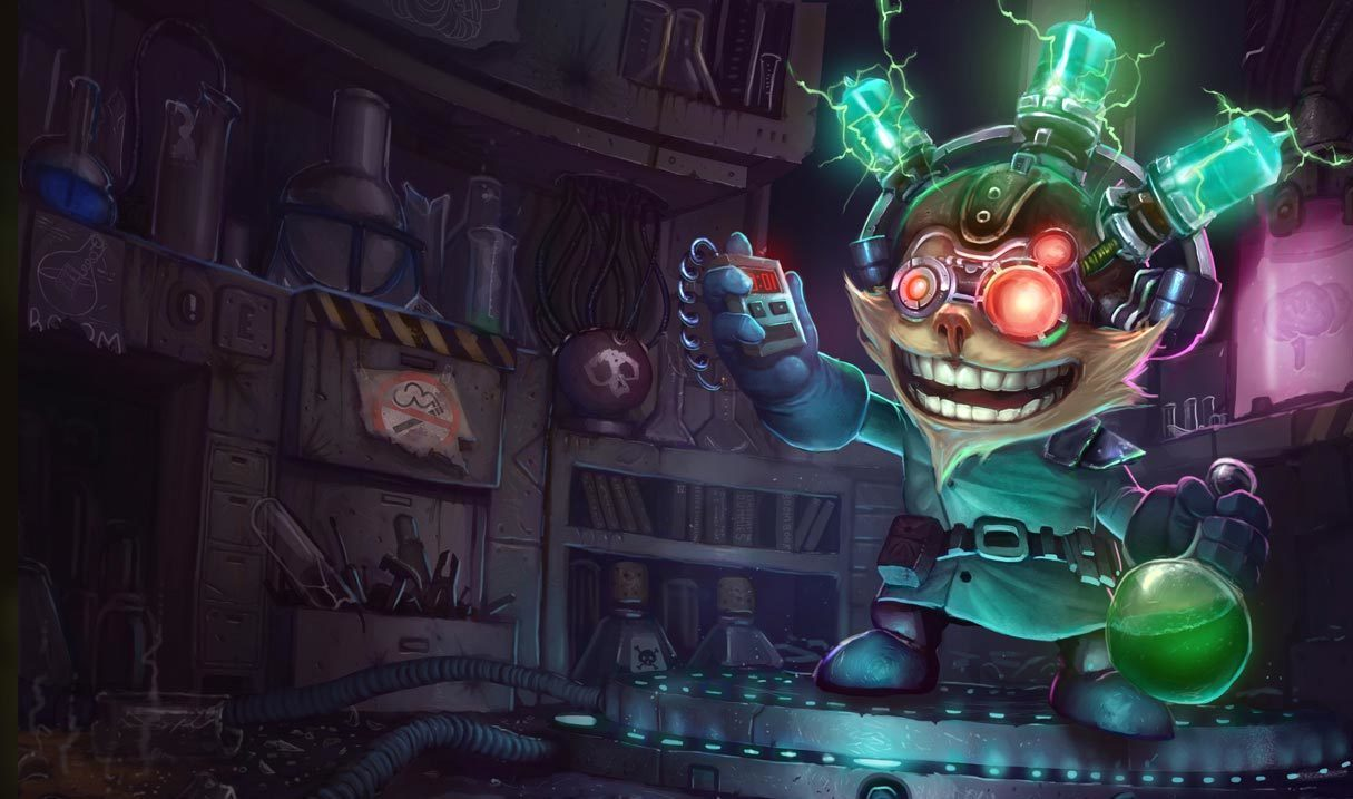 Mad Scientist Ziggs Landscape Skin