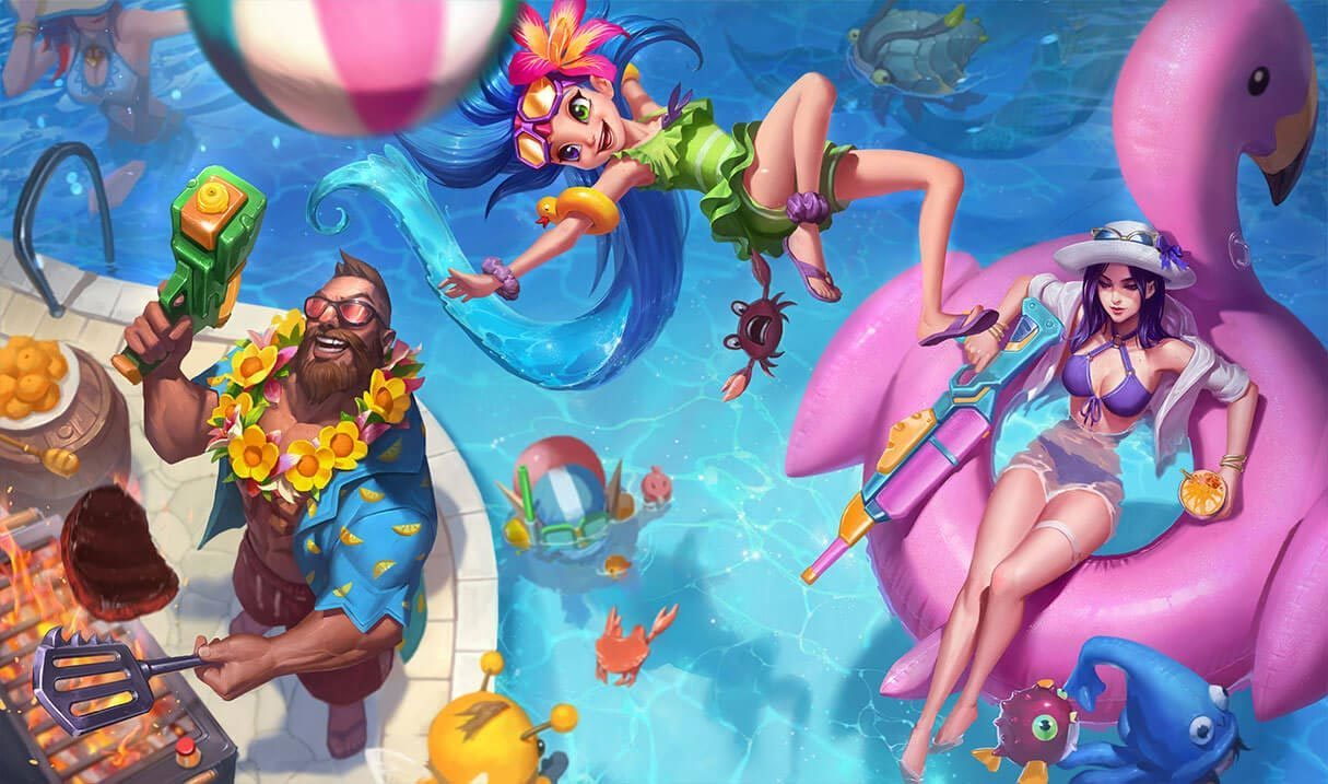 Pool Party Zoe Landscape Skin