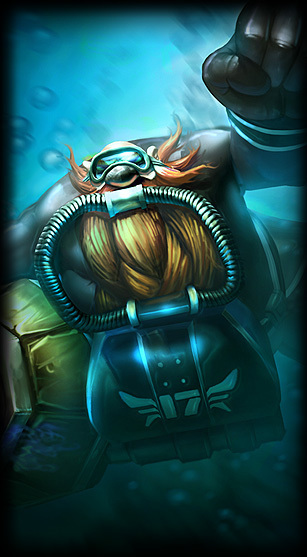 scuba gragas league of legends lol champion skin on