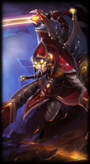 cosmic blade master yi league of legends lol champion skin on