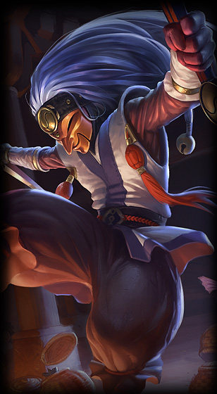 masked shaco league of legends lol champion skin on