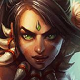 Iris Kang played as Nidalee